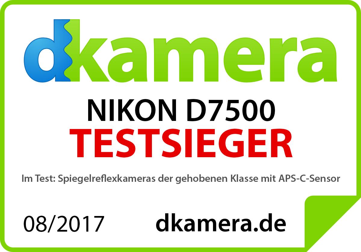Nikon D7500 Testsieger Auszeichnung
